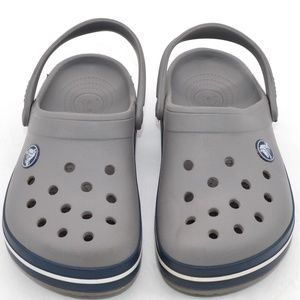 Crocs Kids Crocband Clog Sandals Grey Blue Size 12